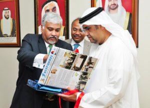 36.Mr.Hamad Qasem Inaugurating the 1st Edition of Forerunner
