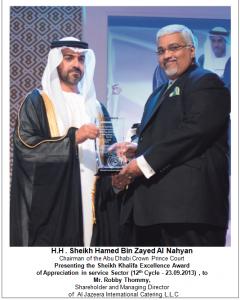 1.Sheikh Khalifa Excellence Award 2013