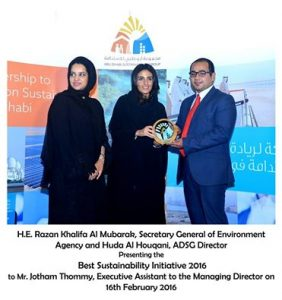 9. Abu Dhabi Sustainable Business Leadership Award 2016