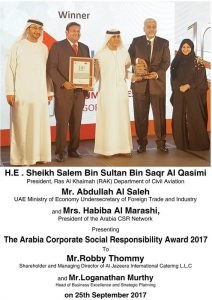 1. JIC WINS ARABIA CSR AWARD - 2017