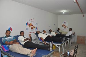 JIC conducts it's 5th Blood Donation campaign on 7 June 2013